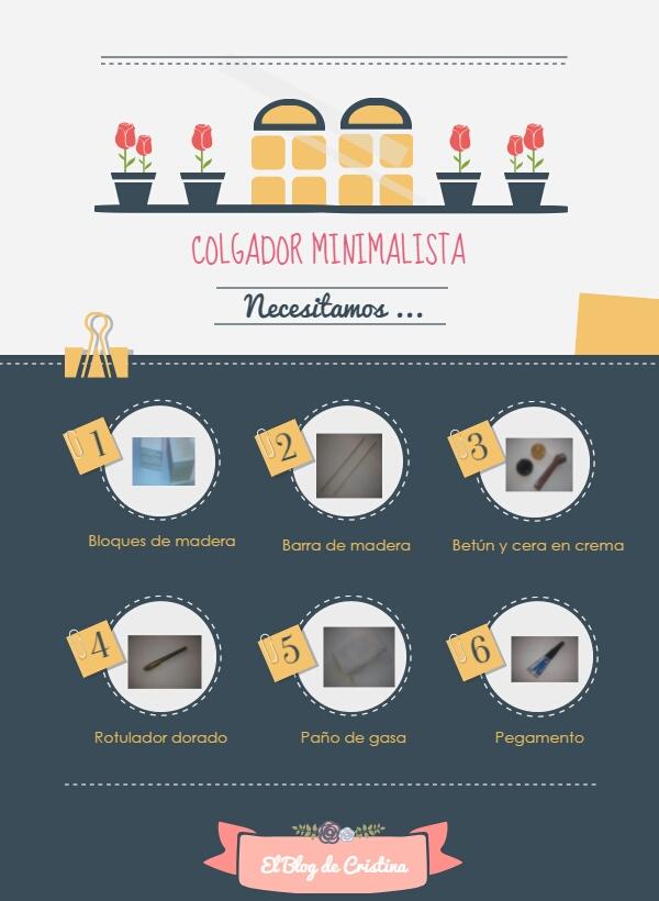 Infografia colgador minimalista