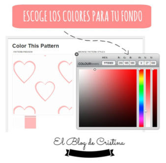 Colores para el fondo con COLOUR LOVERS