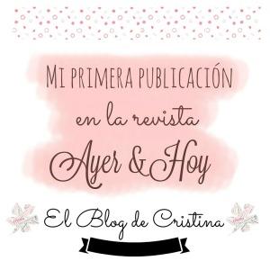 Mi primera publicación El Blog de Cristina