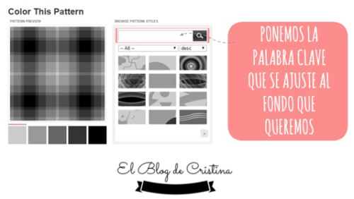 Palabra clave para el fondo con COLOUR LOVERS